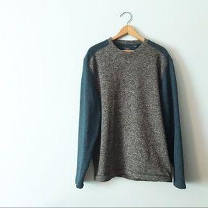 Arrow Fleecy Sweatshirt Pullover Grey Teal